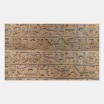 Ancient Egyptian Hieroglyphs Designer Gift Rectangular Stickers