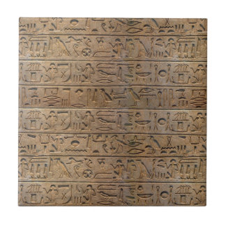 Ancient Egyptian Hieroglyphs Designer Gift Tile