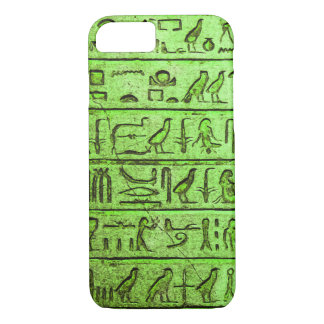 Ancient Egyptian Hieroglyphs Green iPhone Case