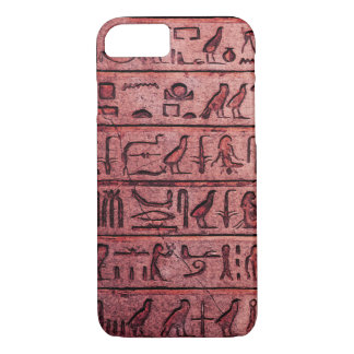 Ancient Egyptian Hieroglyphs Red iPhone 7 Case