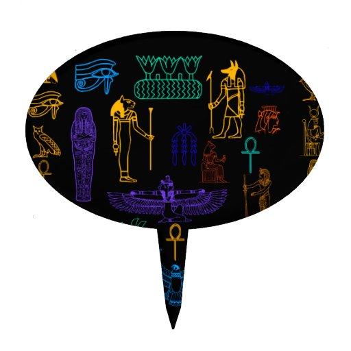 Ancient Egyptian Hieroglyphs & Symbols Cake Topper