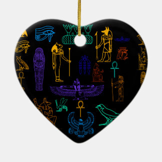 Ancient Egyptian Hieroglyphs & Symbols Christmas Ornament