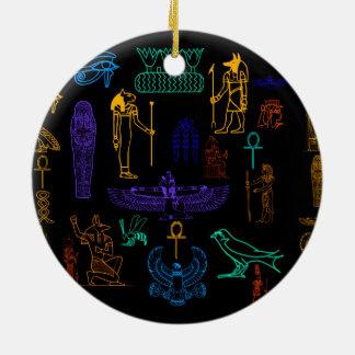 Ancient Egyptian Hieroglyphs & Symbols Christmas Ornament
