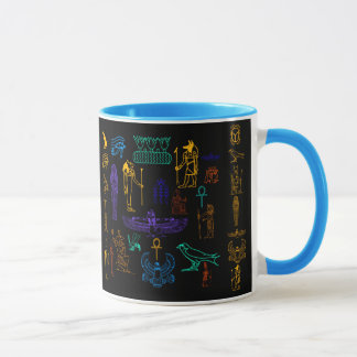 Ancient Egyptian Hieroglyphs & Symbols Mug
