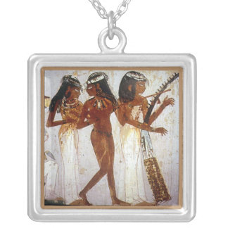 Ancient Egyptian Music Silver Plated Necklace