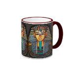 Ancient Egyptian Pharaoh Tutankhamen Ringer Coffee Mug