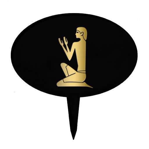 Ancient Egyptian praying figure Cake Picks