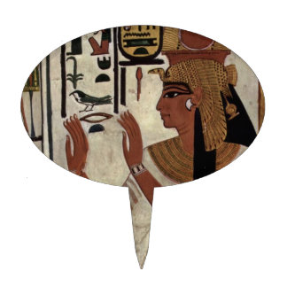 Ancient Egyptian Queen Nefertari Oval Cake Picks