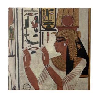 Ancient Egyptian Queen [Nefertari] Small Square Tile
