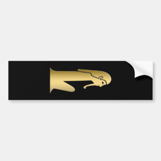 Ancient Egyptian seated figure Bumper Sticker