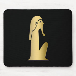 Ancient Egyptian seated figure Mouse Pad