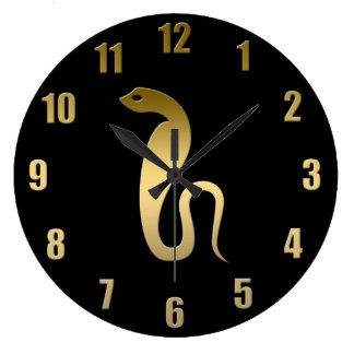 Ancient Egyptian snake – goddess Renenutet Large Clock
