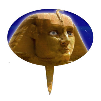 Ancient Egyptian Sphinx at Giza Art Design Cake Topper