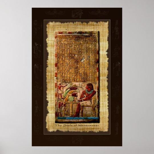 Ancient Egyptian Stela Art Poster