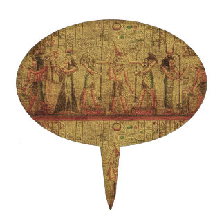 Ancient Egyptian Temple Wall Art Cake Picks