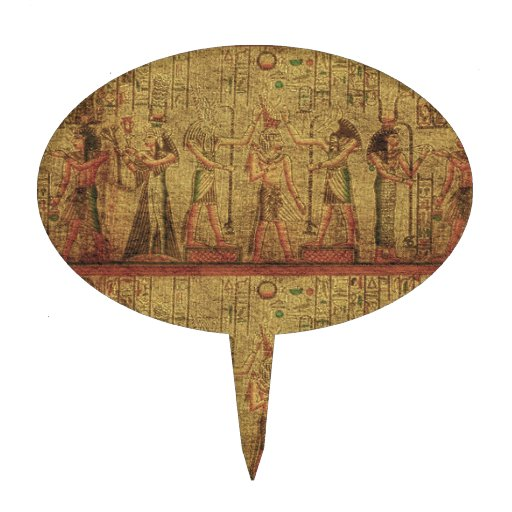 Ancient Egyptian Temple Wall Art Cake Topper