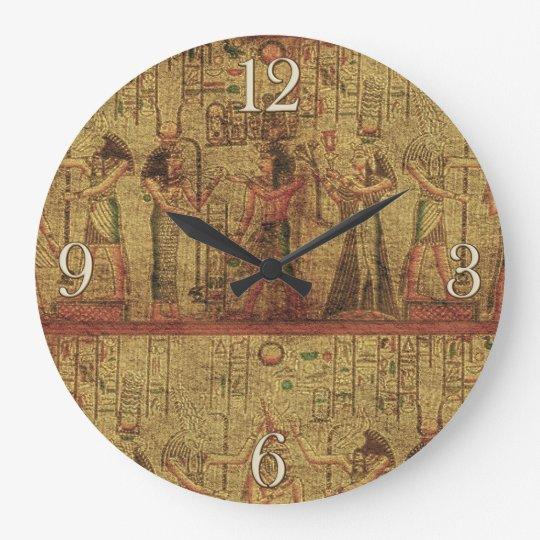 Ancient Egyptian Temple Wall Art Large Clock