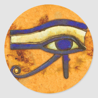 Ancient Egyptian The Eye of Horus Round Sticker