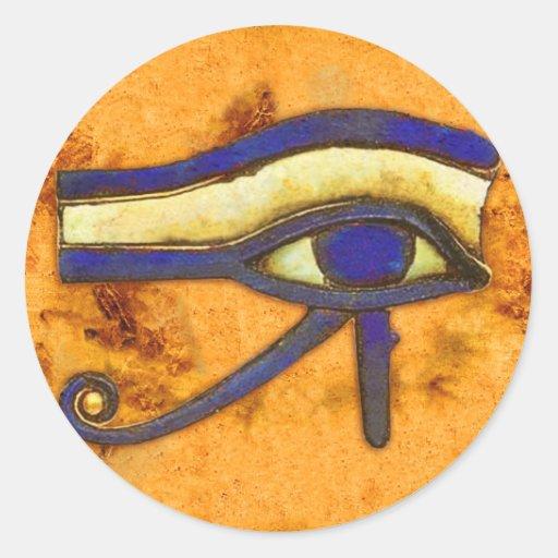 Ancient Egyptian The Eye of Horus Round Sticker