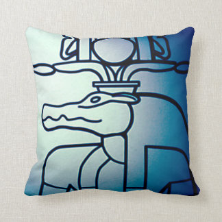 Ancient Egyptian Themed Abstract Pillow Cushion