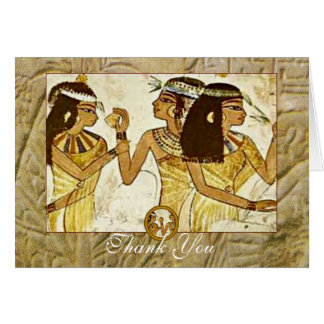 Ancient Egyptian Women with Essential Oils Thanks Greeting Card