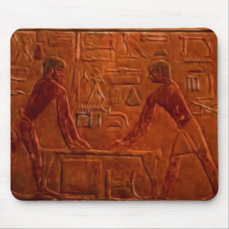Ancient Egyptian Workmen at Sanding Table Mouse Mat