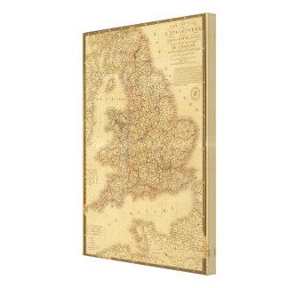 Ancient English Map Canvas Print