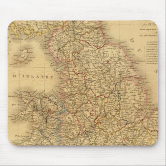 Ancient English Map Mouse Pad