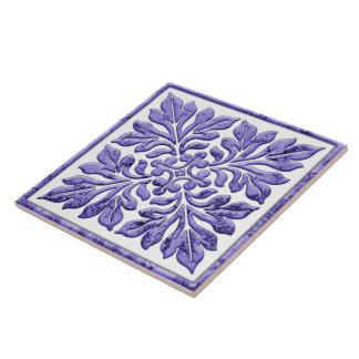 Ancient english tile cool purple