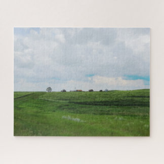 Ancient Family Life   Canadian Prairies Jigsaw Puzzle