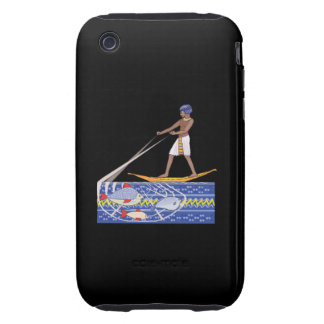 Ancient Fishing Tough iPhone 3 Case