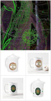 Ancient Forest Teapots and Mugs