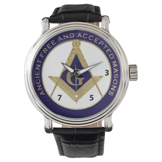 Ancient Free and Accepted Mason watch