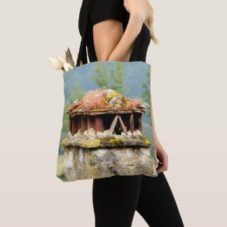 Ancient French Chimney All Over Print Tote Bag