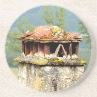 Ancient French Chimney Sandstone Drink Coaster