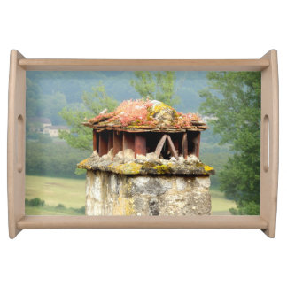 Ancient French Chimney Serving Tray