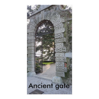 Ancient gate personalized photo card