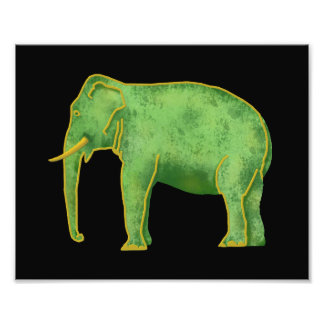 Ancient Gold and Jade Elephant Photo Print