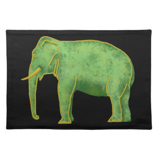 Ancient Gold and Jade Elephant Placemat