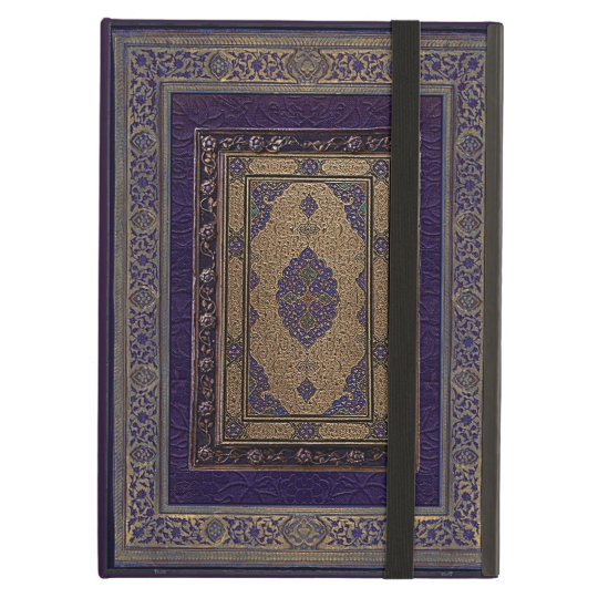 Ancient Gold On Purple Decorative Book Cover iPad