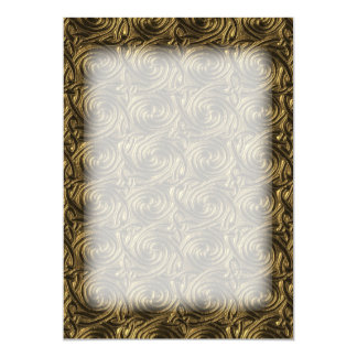 Ancient Golden Celtic Spiral Knots Pattern 13 Cm X 18 Cm Invitation Card