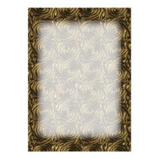 Ancient Golden Celtic Spiral Knots Pattern Card