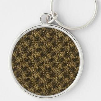 Ancient Golden Celtic Spiral Knots Pattern Key Chain