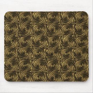 Ancient Golden Celtic Spiral Knots Pattern Mousepads