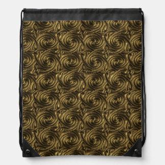 Ancient Golden Celtic Spiral Knots Pattern Backpack