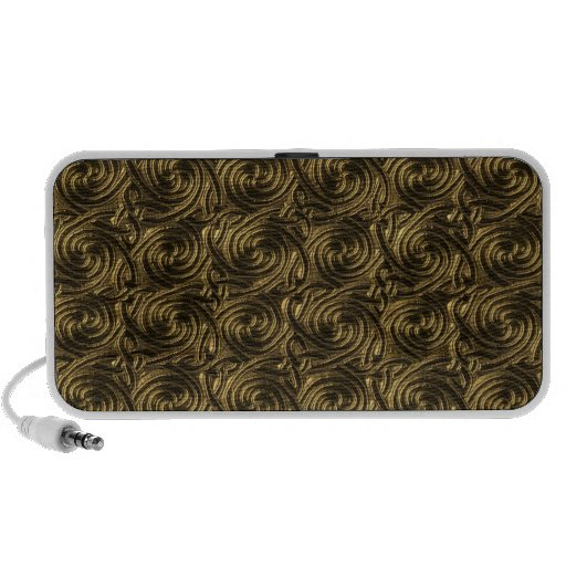 Ancient Golden Celtic Spiral Knots Pattern Notebook Speakers