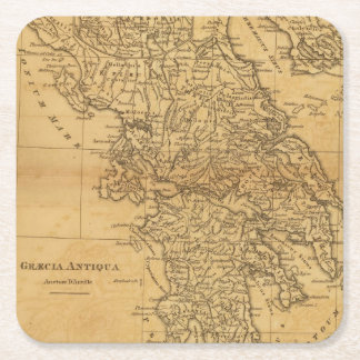 Ancient Greece 2 2 Square Paper Coaster