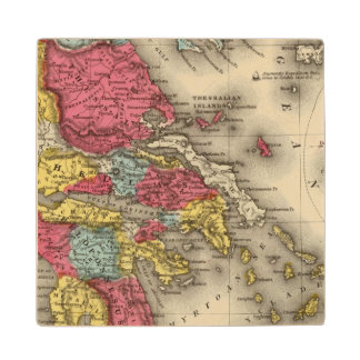 Ancient Greece 2 Wood Coaster