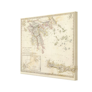 Ancient Greece, southern Canvas Print