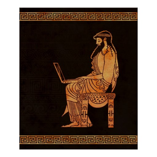 Ancient Greek Businessman Poster